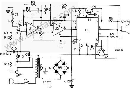 50W power amplifier circuit (50Watt Amplifie ...