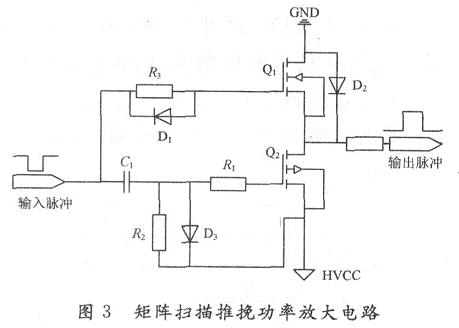 Push-pull circuit composed of power MOS tube