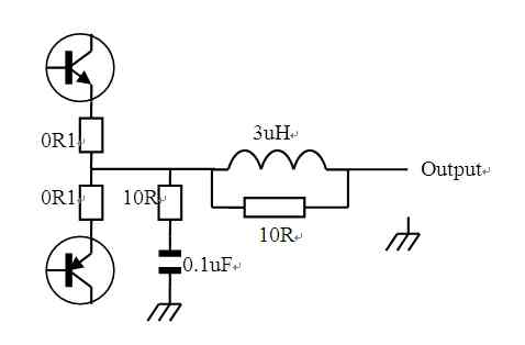 Output matching circuit of professional audio amplifier