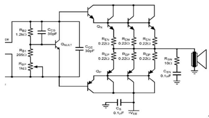 Output configurable structure of audio amplifier