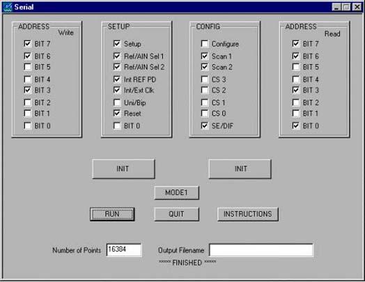 Figure 3. Screens for control.