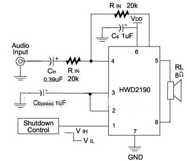 HWD2190 power amplifier circuit diagram