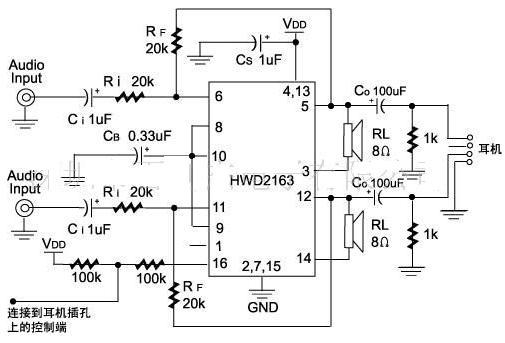 HWD2163 power amplifier circuit