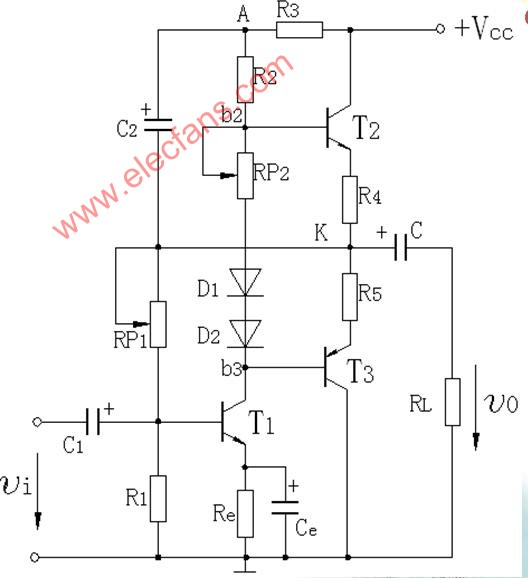 Practical OTL power amplifier circuit
