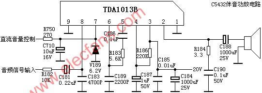 TDA1013 sound amplifier circuit