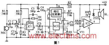 Class D power amplifier circuit made by CA3160
