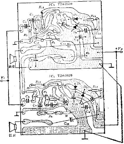 TD2030 power amplifier circuit diagram