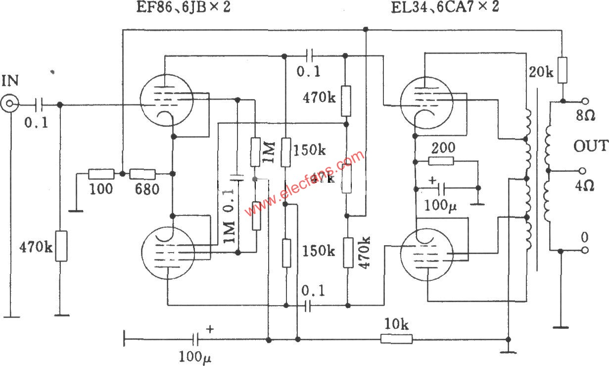 Tube QUADll power amplifier circuit diagram