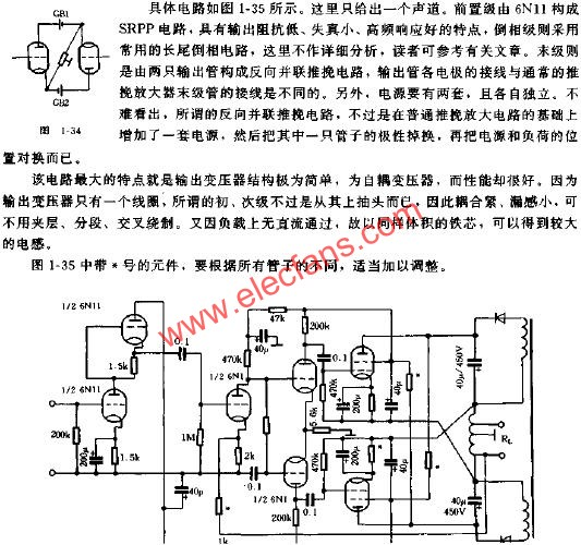 New amplifier push-pull power amplifier circuit