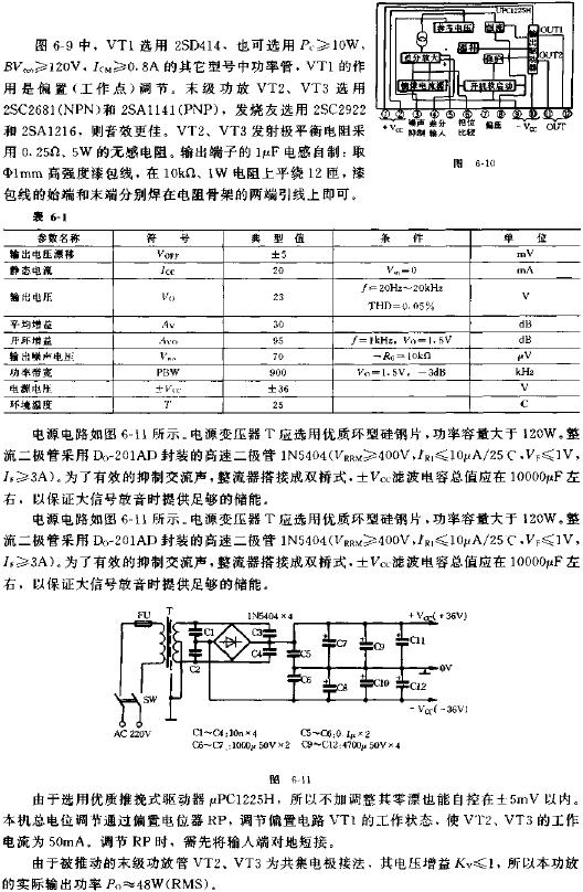 Simple 50W high-quality power amplifier circuit diagram