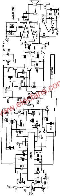 Practical current feedback combined power amplifier circuit diagram