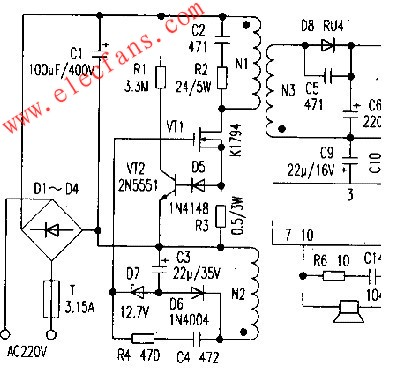 Manufacture of AC / DC power amplifier circuit