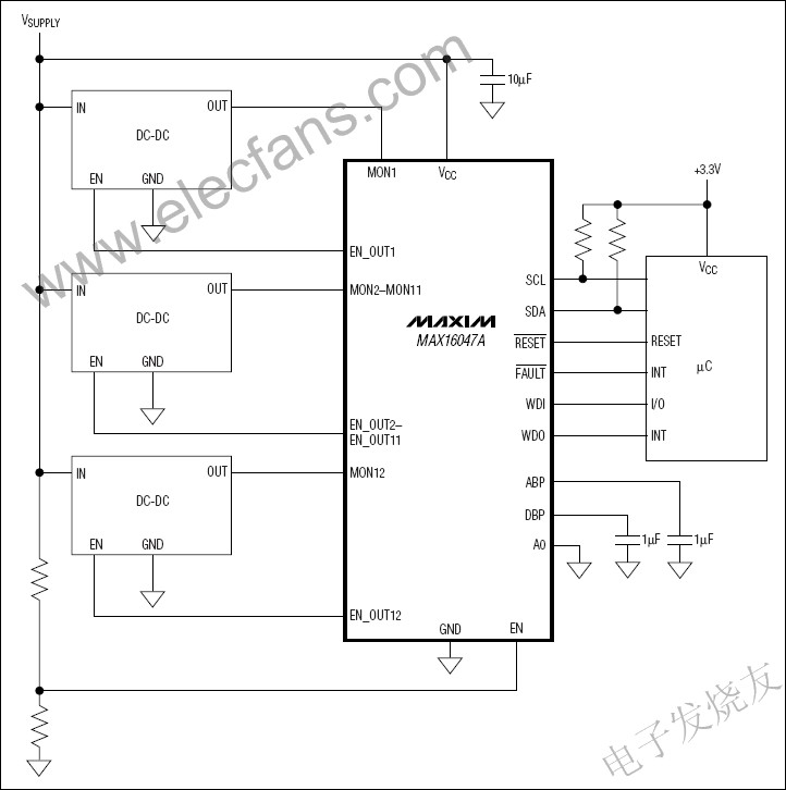 MAX16047A/MAX16049A EEPROM Configurable System Manager