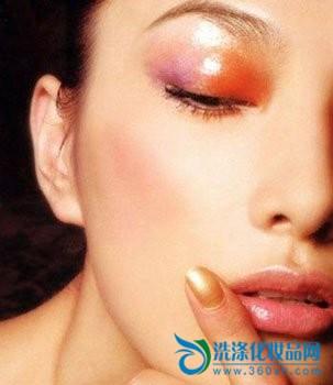Shining your makeup