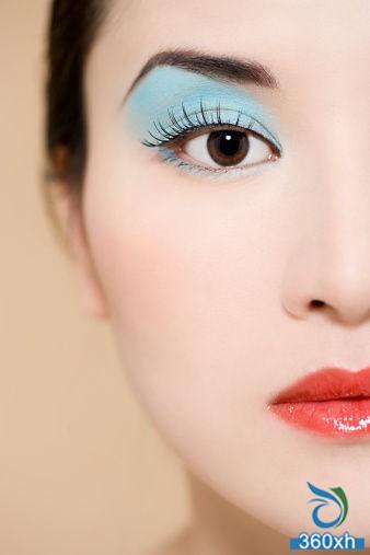 Inside double MM eye makeup skills Magical big eyes girl