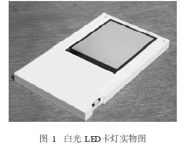 White LED card light physical map