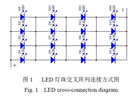 LED lamp bead cross array connection diagram