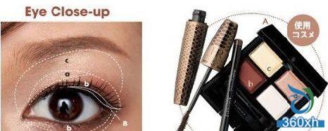 Brown eye makeup to create a gentle cool sweet makeup