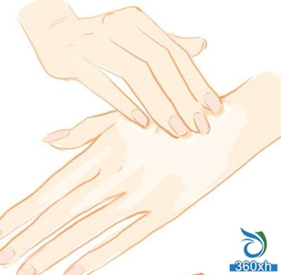 Horny care helps hands get rid of rough