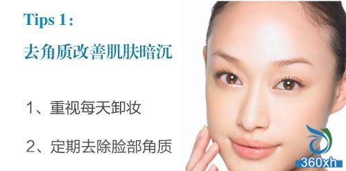 Exfoliation improves skin dullness