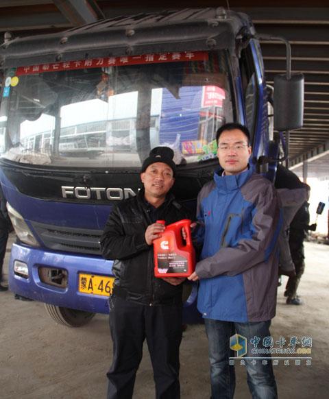 The staff sent Kangsheng lubricants to 500,000 kilometers without overhaul users Zhang Yu