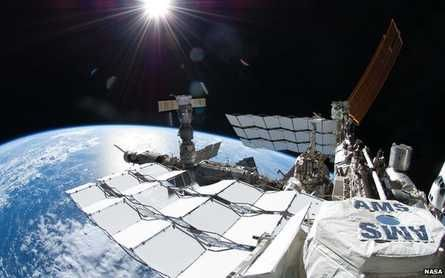 As shown in the figure, the experimental instrument installed on the space station is worth 2 billion US dollars.