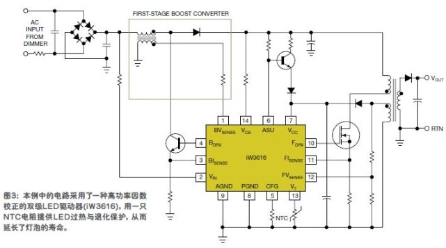 LED driver two-level scheme
