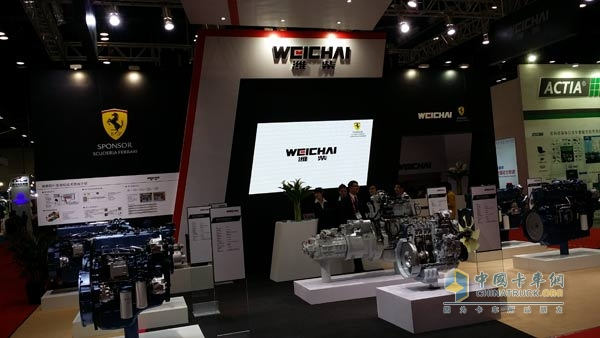 Weichai Power Engine Products Appear at Road Transport Exhibition