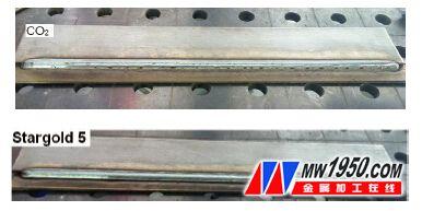 图1 采用不同保护气体,解决焊缝表面氧化皮太多的问题