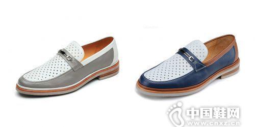 菱形镂空牛皮时尚商务正装鞋