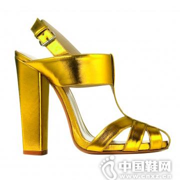ETRO 金色皮质高跟鞋