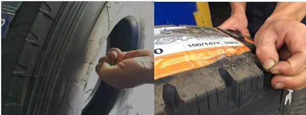 Left is Michelin tires Right is ordinary tires