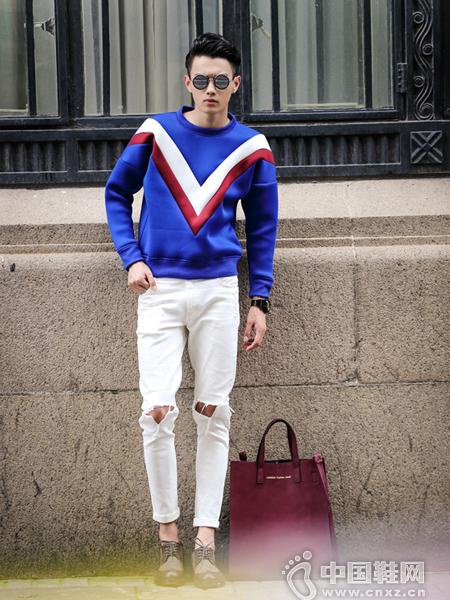 蓝色太空棉卫衣