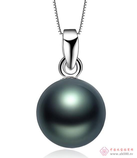 大溪地黑珍珠项链