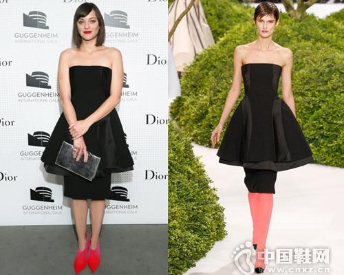 玛丽昂歌迪亚身穿Dior 2013春夏高级定制系列