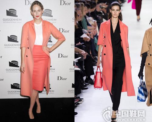 莉莉索博斯基身穿Dior 2014秋冬成衣系列