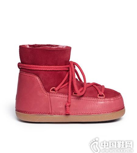 IKKII 皮革拼接雪地靴