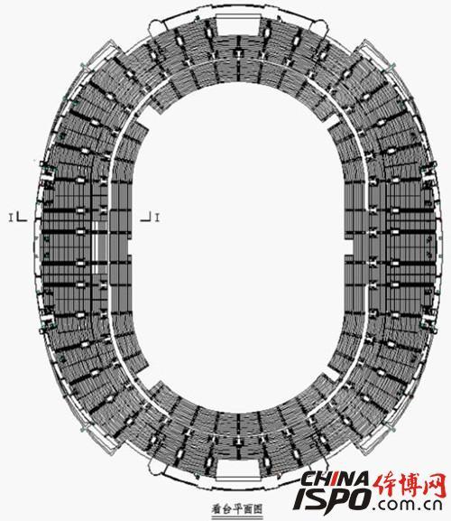 体育场看台施工平面图