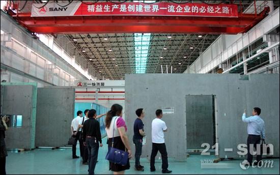 用户参观三一PC成套设备生产车间