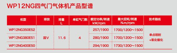 Weichai Lanqing WP12 gas engine