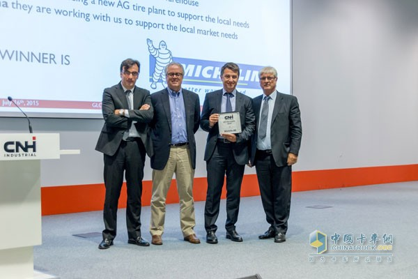 "Michelin won the ""Best Supplier"" award from Case New Holland Industry Group"