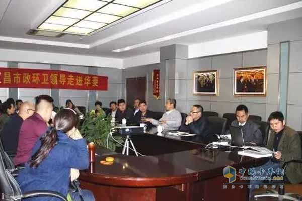 Clients Visit Hualing Xingma Sanitation Vehicle Series