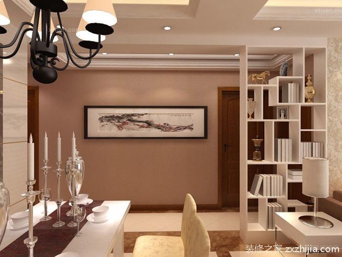 客厅层架隔断设计