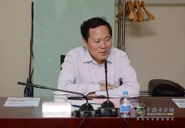 Bei Jin Futian general manager Wang Jinyu delivered a speech