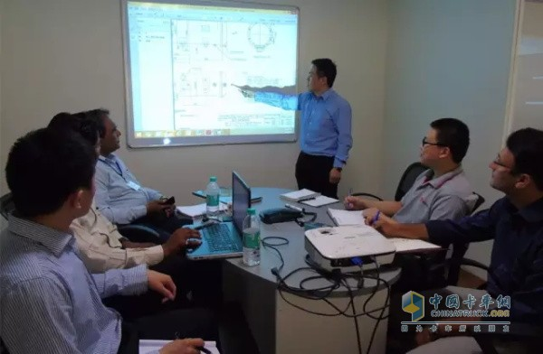 Weichai and Indian company technology, sales team seminar