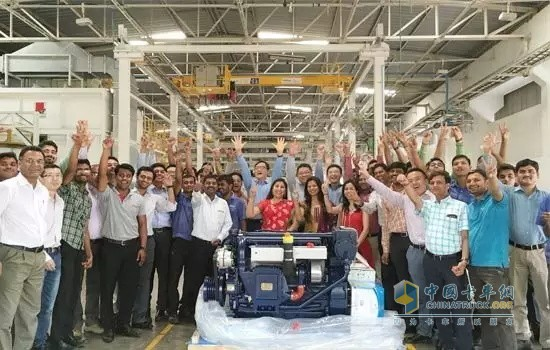The engine manufactured by Weichai in India was first exported abroad