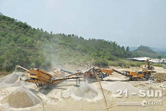 机制砂石生产线三台亲兄弟让建筑垃圾变废为宝
