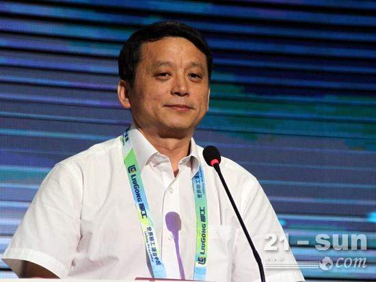 柳工装载机配套件合作方——洛轴公司董事长、党委书记王新莹讲话