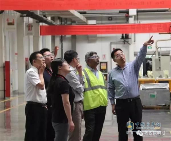 Pan Yukang visited Xi'an Cummins production line