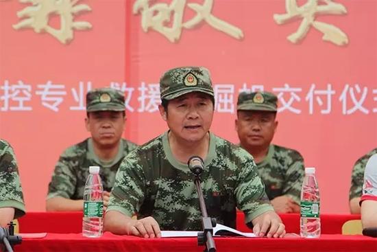 武警交通指挥部司令部副参谋长向明清讲话